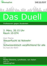 3. Professorendebatte in St. Gallen