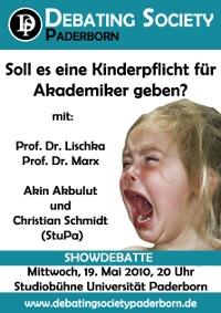 """Showdebatte in Paderborn: """"Kinderzwang für Akademiker?"""""""