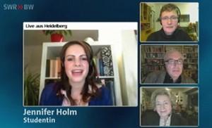 Jennifer und wie sie die Welt sieht: Heidelberger Debattantin im SWR-Fernsehen