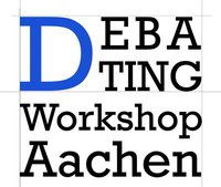 Debating workshop in Aachen: A young club needs expertise