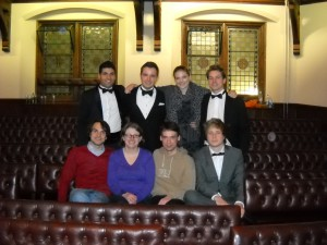 VDCH teams at Cambridge IV 2011: Upper row: Rauad Abagela (Kiel), Henrik Maedler(Independent Judge, former IUB), Melanie Sindelar (DK Wien), Thomas Schäfer (Tilbury House) Lower row: Niels Schröter (Berlin), Isa Loewe (Mainz), Jonas Werner (Berlin), Janni Hinselmann (now in Bristol)