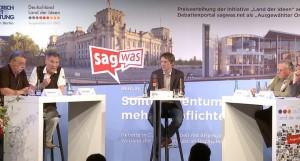 Publikumsdebatte von sagwas.net und Streitkultur Berlin zum Tag des Grundgesetzes