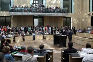 Blick in den Bundesrat zur Eröffnung des Tag der offenen Tür: Insgesamt 16.000 Besucher folgten der Einladung und besuchten des Bundesrat über den ganzen Tag, Foto (C) Bundesrat 2012