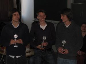 Die glücklichen Gewinner aus Marburg: Tobias Kube, Sven De Causemaecker und Ruben Brandhofer (v.l.n.r.)
