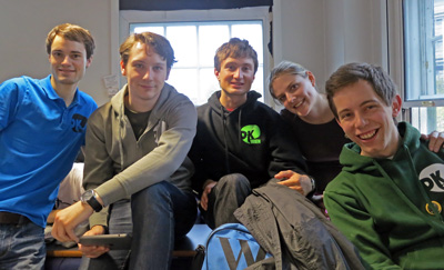 Part of the Vienna Contingent: Mark, Jakob, Stefan, Melanie, Andreas Prischl.