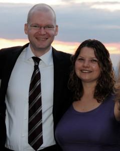 Gudrun Lux (re) und Tim Richter (li) von 2007 bis 2012 sind beide verantwortliche Redakteure der Achten Minute.
