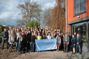 Gruppenbild der Teilnehmer auf der ZEIT DEBATTE in Tübingen (Foto: Carsten Schmidt)