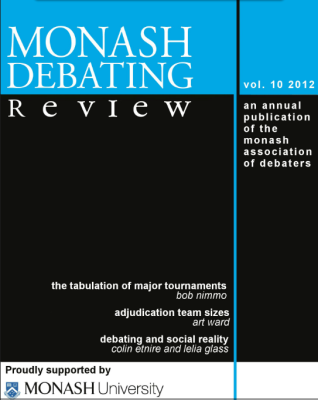 Lukas Haffert rezensiert: Monash Debate Review Vol. 10
