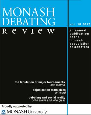 Lukas Haffert rezensiert: Monash Debate Review Vol. 10