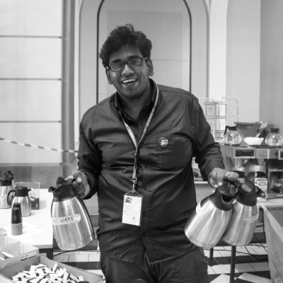 Reuben Thomas is a catering volunteer at the WUDC.