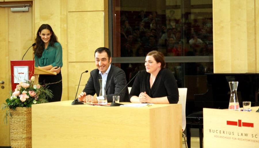 Zu Gast beim DC Hamburg: Cem Özdemir und Katharina Fegebank