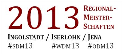 Regionalmeisterschaften 2013: Die Finals