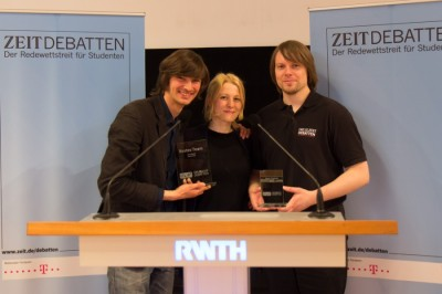 Sieger ZEIT DEBATTE Aachen 2013 Mainz Pakhomenko Gau Berlin Blume