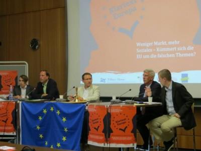 Teilnehmer der Klartext Europa-Debatte in Karlsruhe