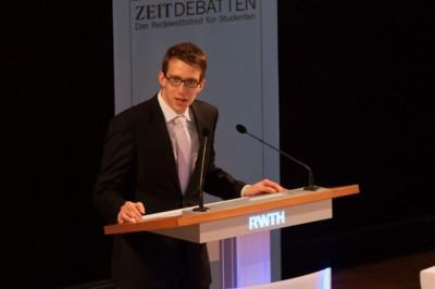 Florian Umscheid 2013 bei der ZEIT DEBATTE Aachen - © Henrik Maedler