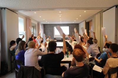 Die VDCH-MV bei einer Abstimmung © S. Kempf