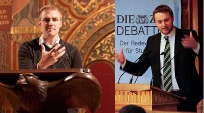Lukas Haffert und Benedikt Nufer (v.l.n.), Vizepräsidenten der DDG
