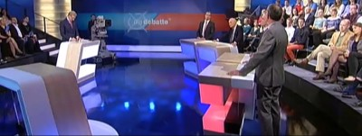 Die zweite Debatte im ZDF: Dasselbe Studio, neues Konzept (c) Screenshot ZDF Mediathek