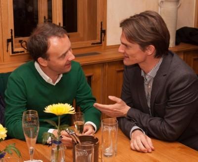 Ins Gespräch vertieft: Prof. Dr. Christoph Busch und Prof. Dr. Rupprecht Podszun (v.l.n.r.) (c) Manuel Adams