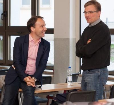 Bei der Gründung 2003 dabei, 2013 beim Masters Cup auch: Christoph Busch und Bernd Hoefer (c) Manuel Adams