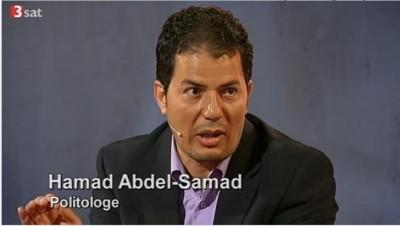 Der Publizist Hamad Abdel-Samad als Redner in der ersten 3sat-Debatte (c) Screenshot 3sat-Mediathek