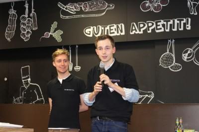 Cheforganisatoren Andreas Dreher (l.) und Sven Schuppener bei der ZEIT DEBATTE Frankfurt (c) DCGF