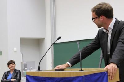 Kontrahenten Dr. Cornelia Ernst und Markus Franke (c) Jan Stöckel