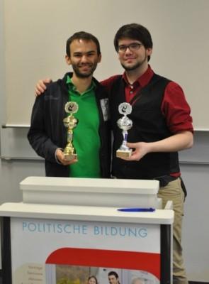Sieger des Schwarzwaldcups 2013: Christian Strunck (l.), Willy Witthaut (c) Julian von Lautz