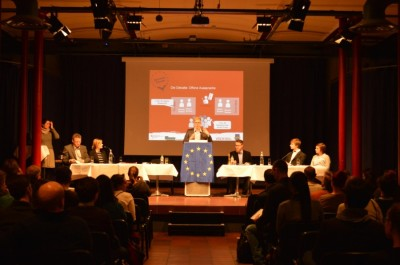 "Die ""Klartext Europa""-Debatte in Bielefeld (c) DG Bielefeld"