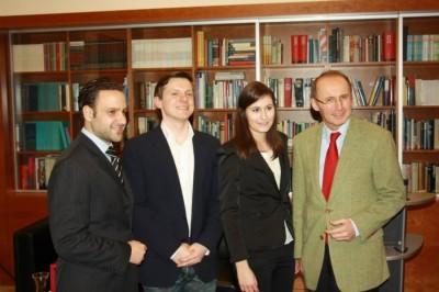 Thomas Tödtling, Roman Pable, Kathrin Heiss und Othmar Karas (v.l.n.r.) (c) AFA-DC Wien