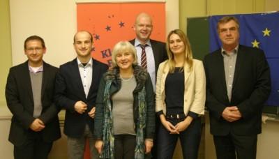 Teilnehmer der KE-Debatte Potsdam: Christoph Krakowiak, Robert Pietsch, Elisabeth Schroedter, Tim Richter, Jana Bachmann, Ralf Christophers (v.l.n.r.) (c) Mathias Hamann