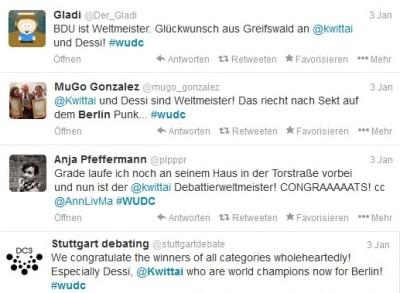 Freudige Reaktionen auf Twitter zum Weltmeistertitel