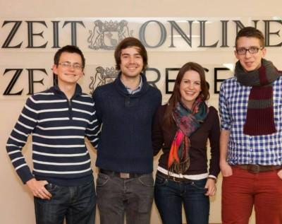 Der VDCH-Vorstand 2013/14: Alexander Labinsky, Tobias Kube, Jennifer Holm, Florian Umscheid (v.l.n.r.) (c) Manuel Adams