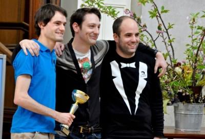 Österreichische Meister 2014: Mark Etzel, Jakob Reiter, Christoph Jäger (v.l.n.r.) (c) AFA DC Wien