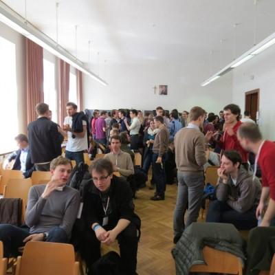 Pause zwischen den Vorrunden der ZEIT DEBATTE Wien (c) AFA DC Wien