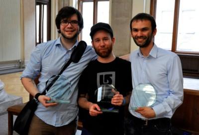 Sieger der ZEIT DEBATTE Wien: Willy Witthaut, Sascha Schenkenberger, Christian Strunck (c) AFA DC Wien