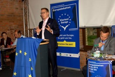 """Nach der Wirtschaftsunion nun die Sozialunion? Die """"Klartext Europa""""-Debatte in Magdeburg"""