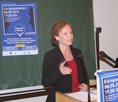 Judith Waizenegger bei der Europadebatte in Salzburg (c) AFA DC Salzburg