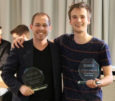 Süddeutsche Meister 2014: Konrad Gütschow (l.), Nikos Bosse (c) Florian Umscheid