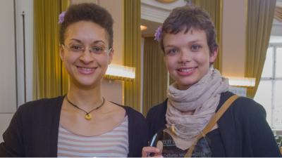 Westdeutsche Meisterinnen 2014: Allison Jones (l.), Alisha Ricard (c) DCJG