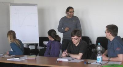 Michael Saliba und Teilnehmer beim Redner-Seminar für Fortgeschrittene (c) S. Kempf