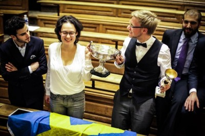 Peer and his partner Louise win the French Debating Championship in the category French as a Second Language