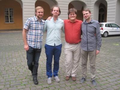Sieger und Beste(r) Finalredner des Methusalem-Cups 2014: Lukas Haffert, Karsten Stölzgen, Jan Papsch, Marcel Giersdorf (v.l.) (c) S. Kempf