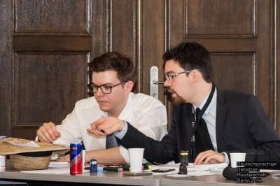 Matthias Morrkopf (l.) und Julian Vaterrodt im Halbfinale der DDm 2014 Berlin (c) Martin Funck