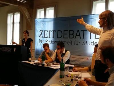 Die Berlin Debating Union gewinnt die ZEIT DEBATTE Tübingen 2015