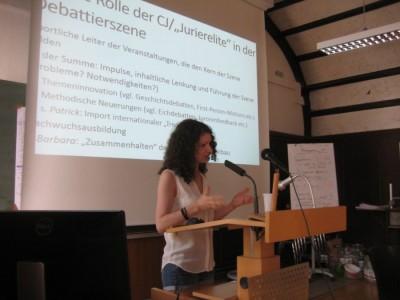 Sarah Kempf beim Jurier-Think-Tank (c) D. Pakhomenko