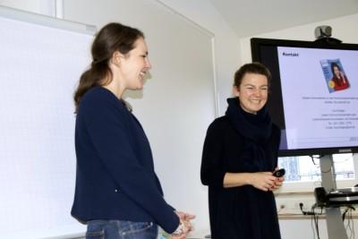 2 Mareike Hall und Lina Kirstgen
