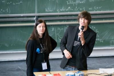 Marion Seiche und Daniil Pakhomenko Chefjuroren DDM 2015 Münster (c) Katharina Koerth/Elisa Schwarz