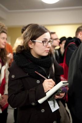 Saskia Höfer bei der Berichterstattung während der ZEIT DEBATTE Hamburg © Felix Schledding