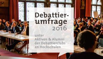 Große Debattierevaluation: Umfrage eröffnet!